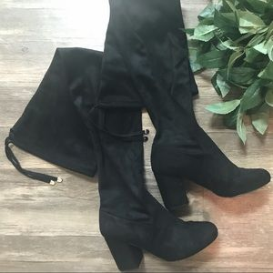 ASOS Over The Knee Chunky Heel Boot